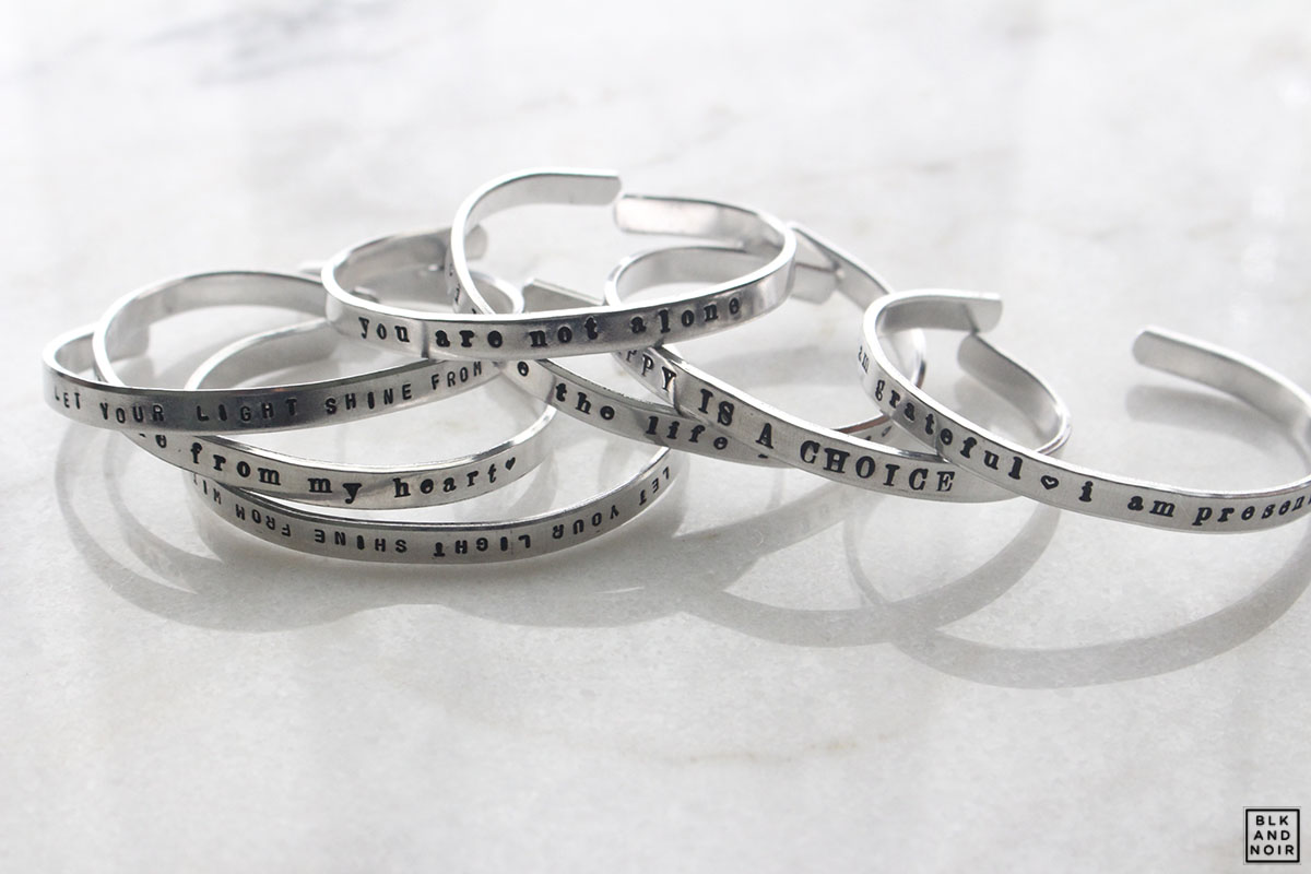 customized silver bracelets by BLK AND NOIR