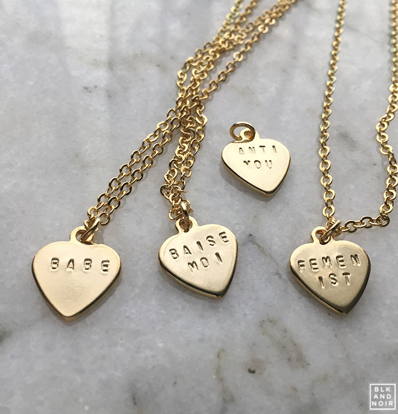Dainty Custom Gold Heart Necklaces