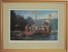 """Lewis & Clark ~ The Departure from Wood River Encampment"""