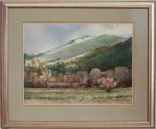 """Valley In the Spring"" watercolor by Jean Halverson"