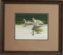 """Swans"" watercolor by Jean Halverson"