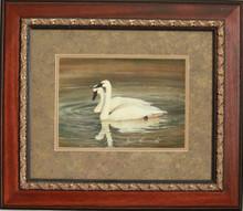 """Pair of Swans"" watercolor by Jean Halverson"
