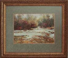 """""""Does in Snow"""" watercolor by Jean Halverson"""