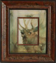 """""""Elk"""" oil by Mary Roberson"""