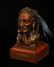 """Old Warrior"" bronze by Virgil B. Graves"