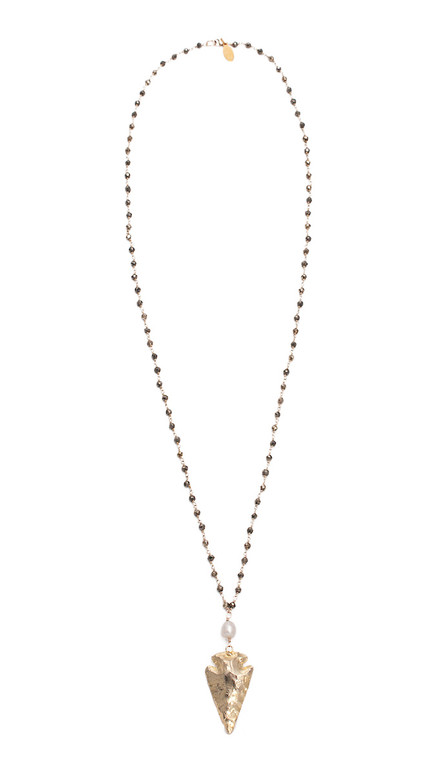 Arrowhead Necklace- Pyrite