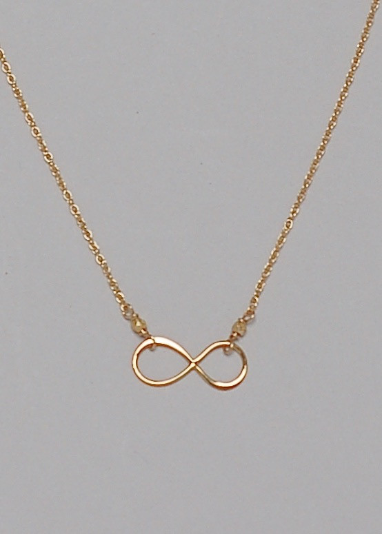 Infinity Necklace- Gold