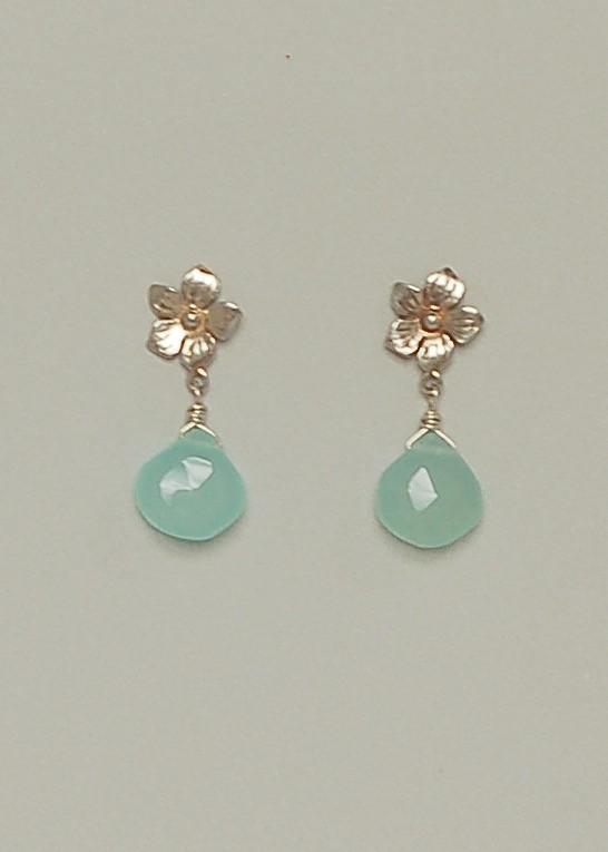 Laurel Earrings- Chalcedony