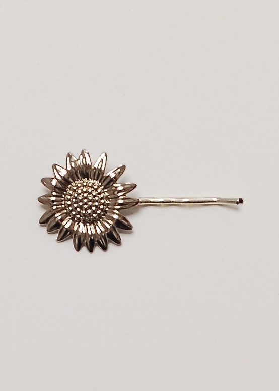 Silver Sunflower Hairpin