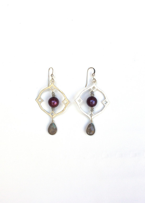 Gracie Earrings- Silver