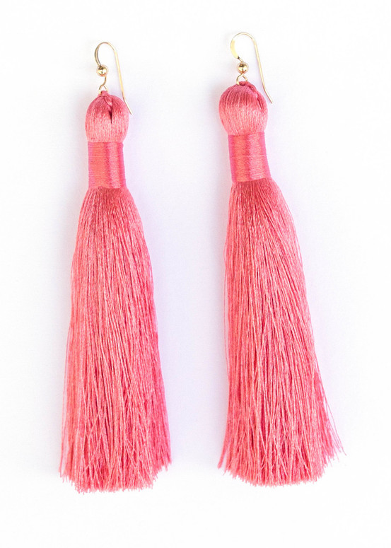 Annie Tassel Earrings - Pink