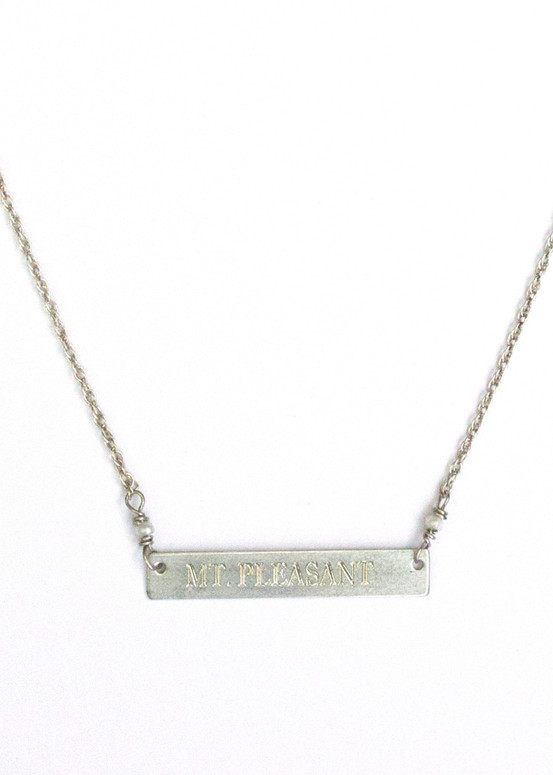 Mt. Pleasant Necklace- Silver