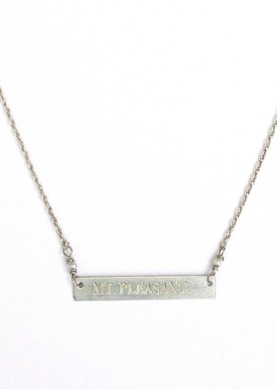Mt. Pleasant Necklace- Silver
