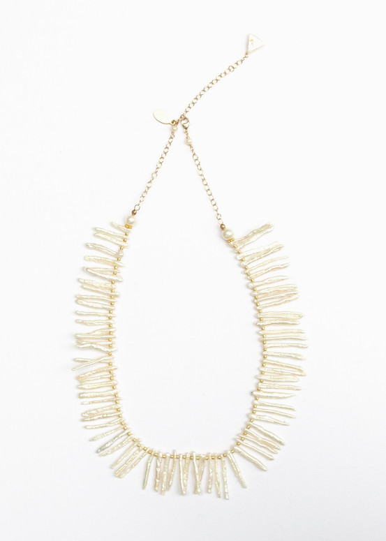 Darby Stick Pearl Necklace