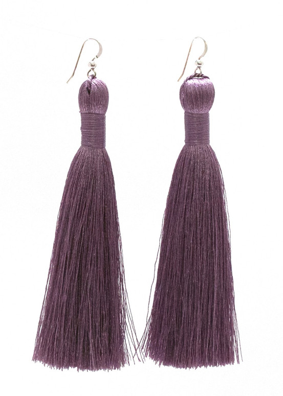 Annie Tassel Earrings - Lavender