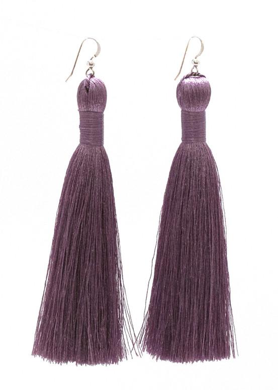 Annie Tassel Earrings - Lavender