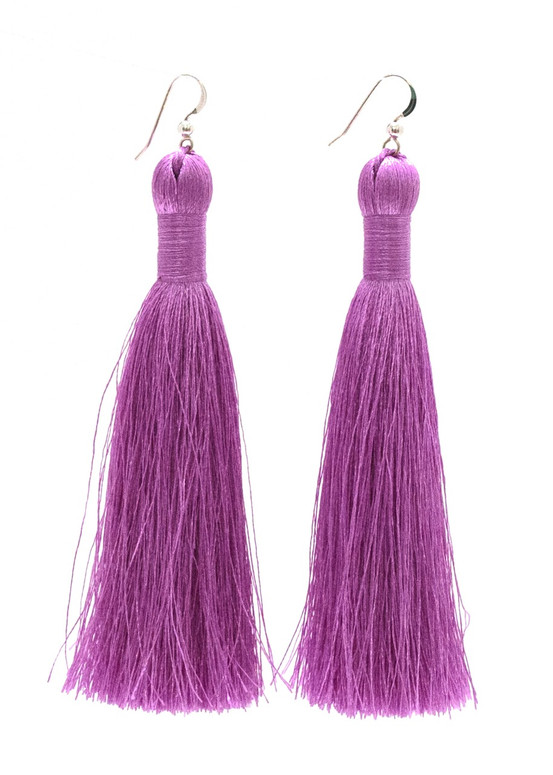 Annie Tassel Earrings - Lilac