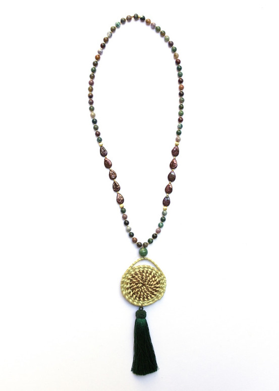 Jasper Sweetgrass Necklace