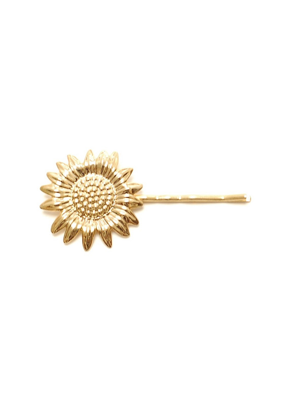 Sunflower Hairpin- Gold