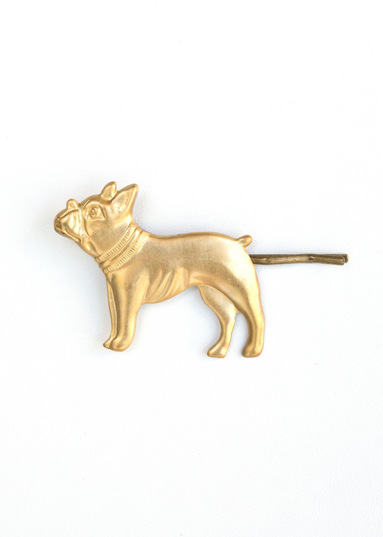 Frenchie Hairpin- Gold