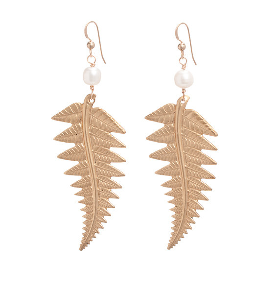 Fern Earrings- Pearl
