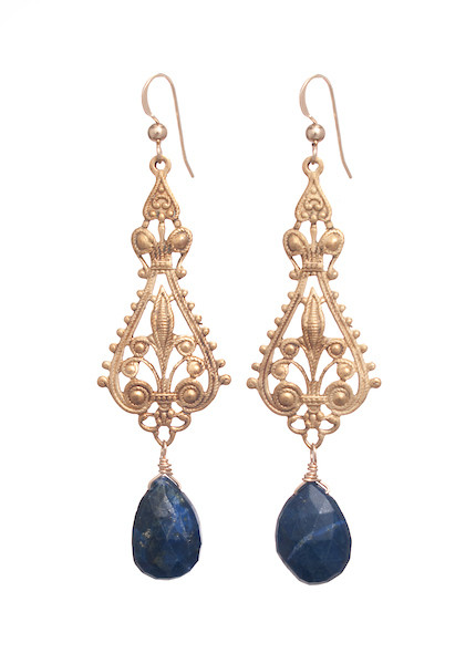 Lander Earrings- Lapis