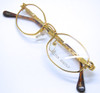 Gold Plated hexagonal glasses
