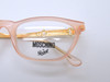 Dusky Pink And Gold Rectangular Glasses By Moschino At Eyehuggers