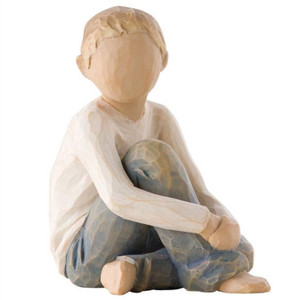 Willow Tree Caring Child Boy Figurine