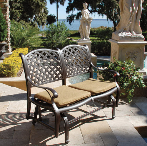 Outdoor Patio Furniture Savannah Ga: Savannah Outdoor Aluminum Bench Glider