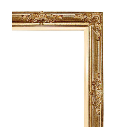 Grand Victorian Frame 24X30 Antique Crackle with Liner - World of Decor
