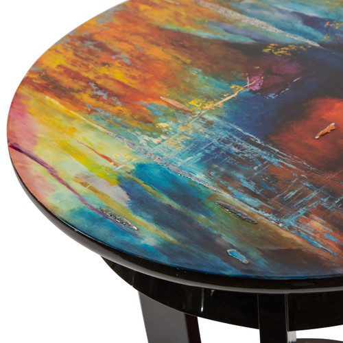 IllusionsRound Chair Side Table - Michael Amini AICO Furniture - FS-ILUSN-085