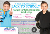 *NEW* Back to School Karate for Concentration V5