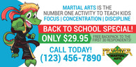 NEW!! Back to School Martial Arts Vinyl Banner PMA V1