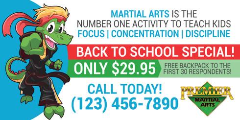 NEW!! Back to School Martial Arts Vinyl Banner PMA V1 - Martial ...