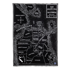 Vintage San Francisco Map Throw Blanket