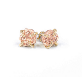 Rose Gold Druzy Earrings