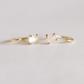 rose quartz gold earrings