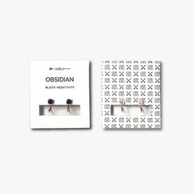 Obsidian Earring Studs