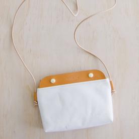 Mallorca Crossbody Bag - Natural/White