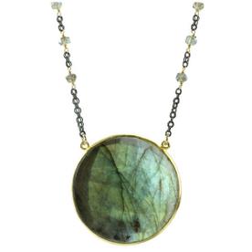 oxidized chain, labradorite