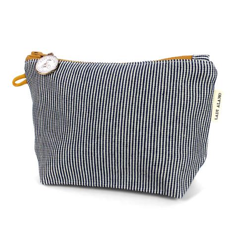 Striped Zipper Pouch