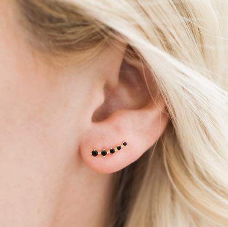 delicate black earrings