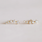 crawler earrings white