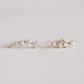 crawler earrings white