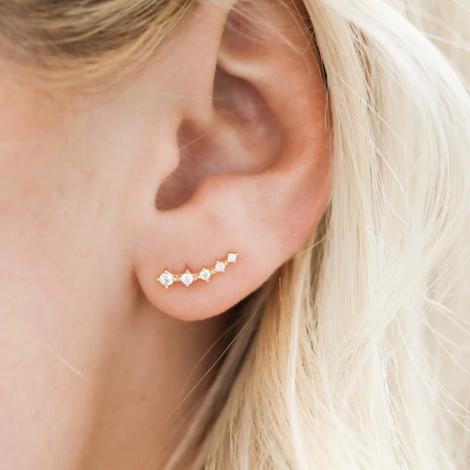 dainty crystal earrings
