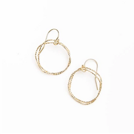 Shiny Gold Circle Earrings
