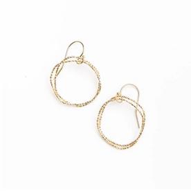 Shiny Gold Circle Earrings
