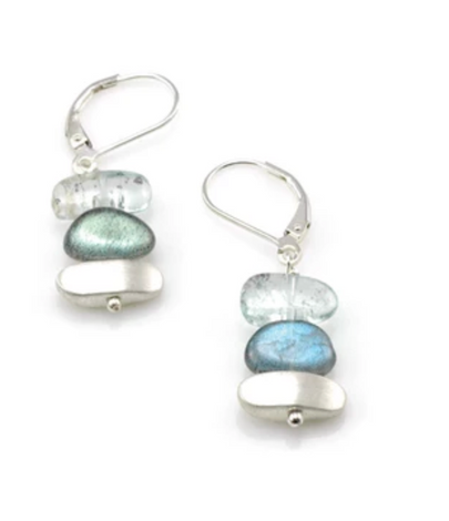 Philippa Roberts Silver Earrings with Labradorite