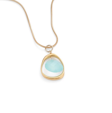 Open Circle with Chalcedony Necklace